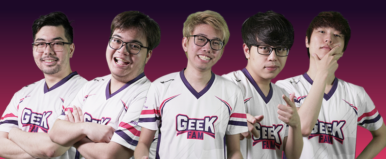 Geek Fam Dota2 2019-2020 Players